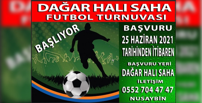 Nusaybin'de Halı Saha Futbol turnuvası düzenlenecek