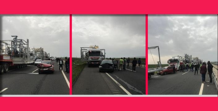 Nusaybin'de petrol platformunun karıştığı kazada 3 araç kullanılmaz hale geldi