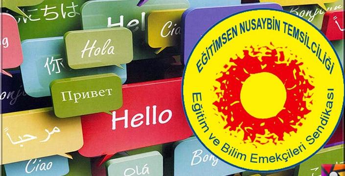 Nusaybin Eğitim Sen 21 Şubat Dünya Anadil Günü'nü 7 dilde kutladı