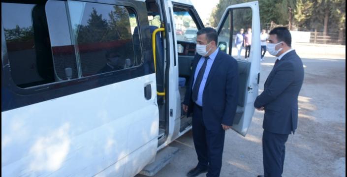 Nusaybin Milli Eğitim Müdüründen okul servislerine denetim