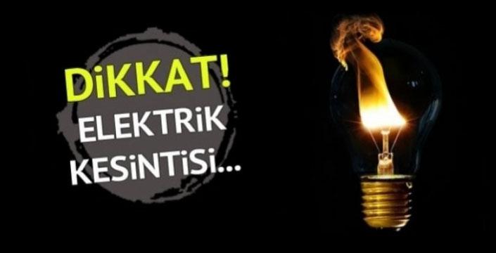 Pazar Günü 2 Mahallede Elektrik kesintisi
