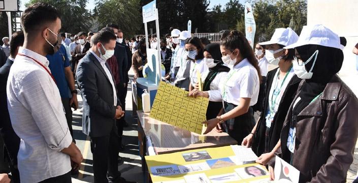 Selahaddin Eyyubi AL'de TÜBİTAK Bilim Fuarı açıldı